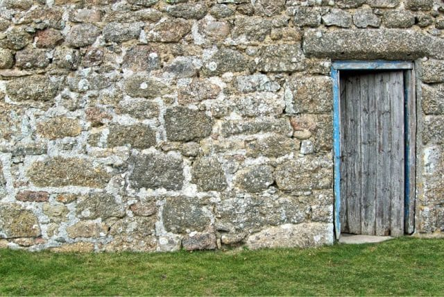 Captioned images on the web open the door im the stone wall making the image accessible to all