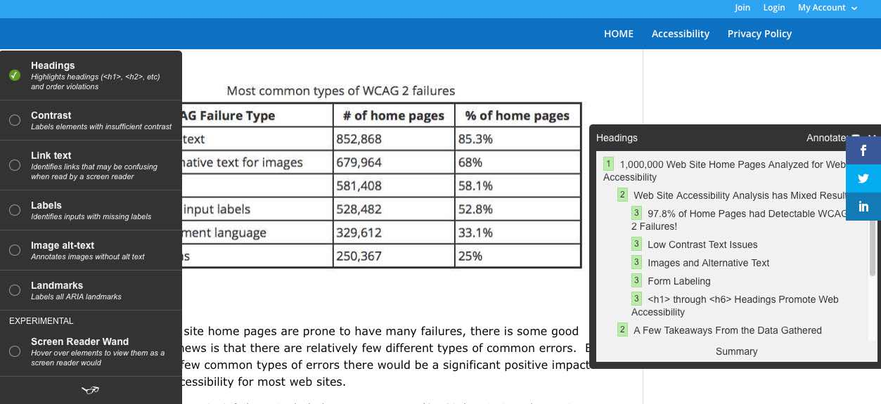 Using WordPress and the DIVI Theme Allows You to Easily Address the Most Common Types of WCAG Failures