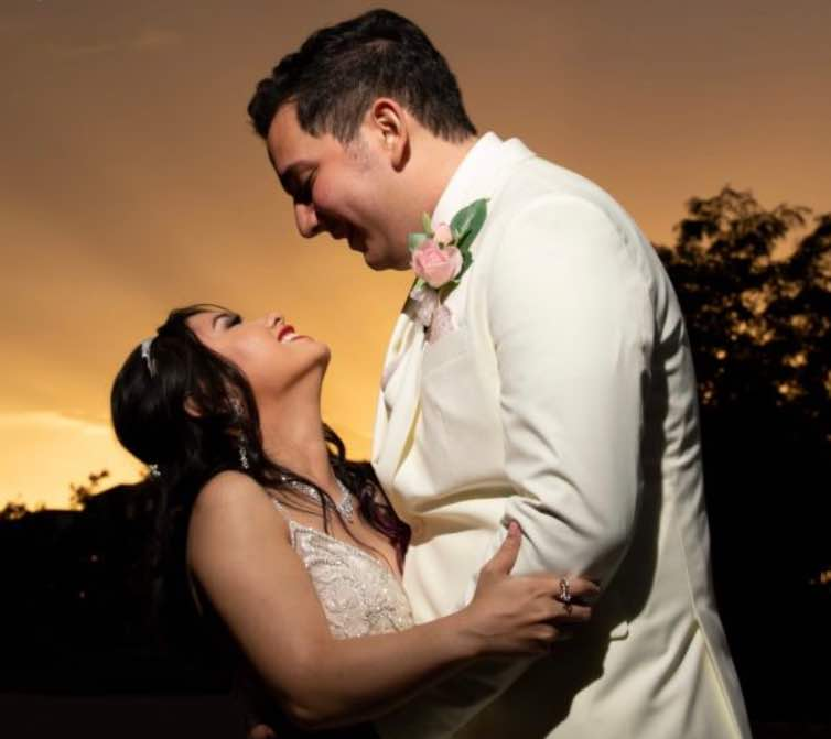 This bride with cerebral palsy walked herself down the aisle P